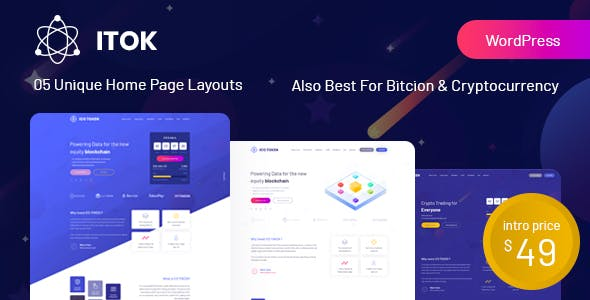 Download free ITok v1.1.16 – ICO and Cryptocurrency WordPress Theme