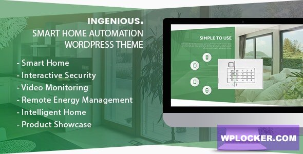 Download free Ingenious v1.1.7 – Smart Home Automation WordPress Theme