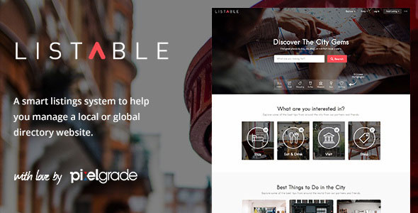 Download free LISTABLE v1.13.0 – A Friendly Directory WordPress Theme