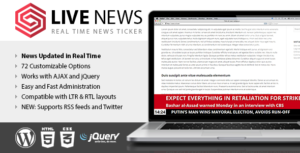 Download free Live News v2.10 – Real Time News Ticker