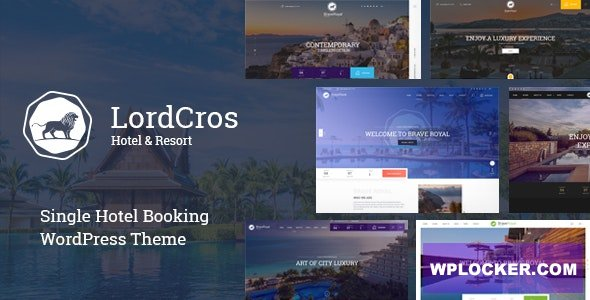 Download free LordCros v1.2.0 – Hotel Booking WordPress Theme