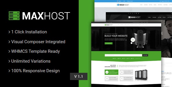 Download free MaxHost v5.1 – Web Hosting, WHMCS and Corporate Business WordPress Theme with WooCommerce
