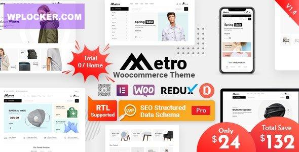 Download free Metro v1.4.4 – Minimal WooCommerce WordPress Theme