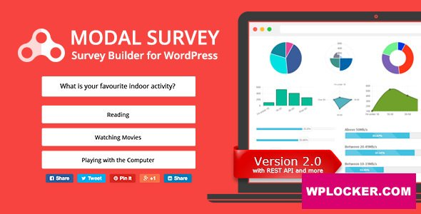 Download free Modal Survey v2.0.1.3 – Poll, Survey & Quiz Plugin