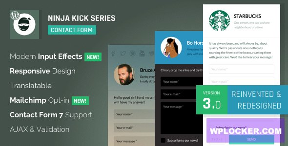 Download free Ninja Kick: WordPress Contact Form v3.5.6