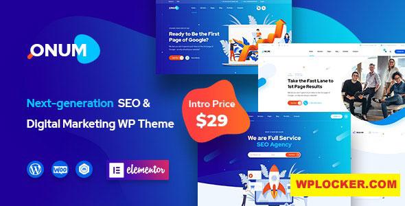 Download free Onum v1.1.6 – SEO & Marketing Elementor WordPress Theme