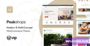 Download free PeakShops v1.1.1 – Modern & Multi-Concept WooCommerce Theme