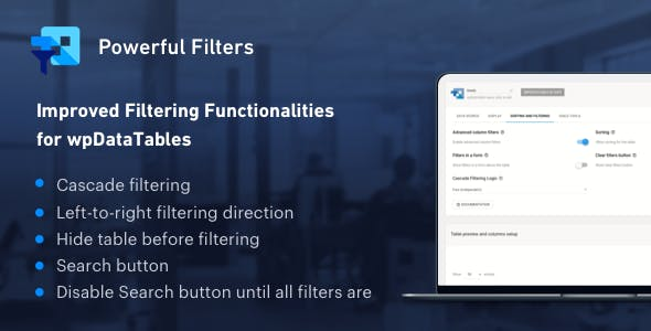 Download free Powerful Filters for wpDataTables v1.1