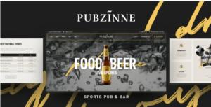 Download free Pubzinne – Sports Bar WordPress Theme v1.0