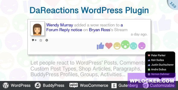 Download free Reactions WordPress Plugin v3.9.2