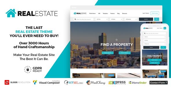 Download free Real Estate 7 v3.0.1 – Real Estate WordPress Theme
