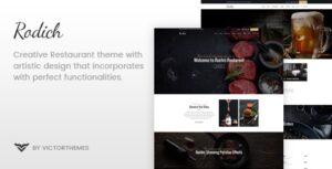 Download free Rodich v1.9.1 – A Restaurant WordPress Theme