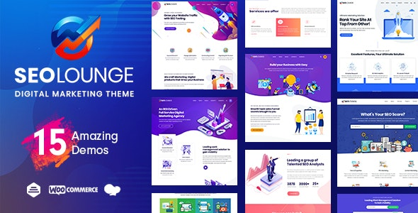 Download free SEOLounge v2.2.6 – SEO Agency WordPress Theme