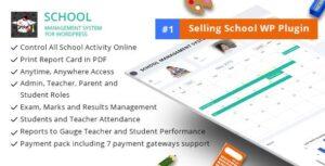 Download free School Management System for WordPress v65.0