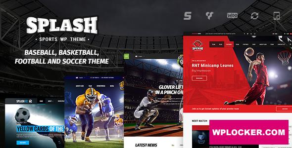 Download free Splash v4.2 – Sport WordPress Theme