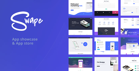 Download free Swape v1.5.9 – App Showcase & App Store Theme