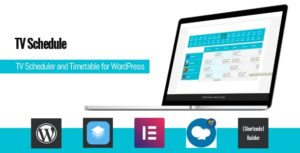 Download free TV Schedule and Timetable for WordPress v1.1