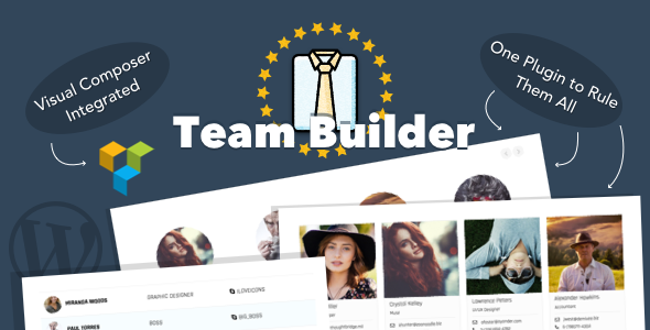 Download free Team Builder v1.5.6 – Meet The Team WordPress Plugin