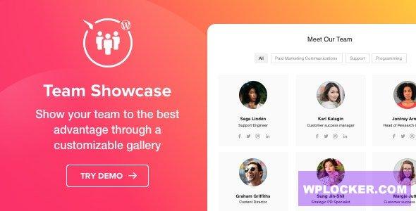 Download free Team Showcase v1.2.0 – WordPress Team Showcase plugin