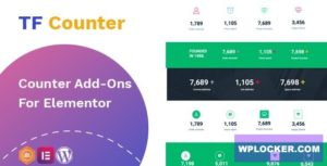 Download free TfCounter v1.0.1 – Counter widget For Elementor