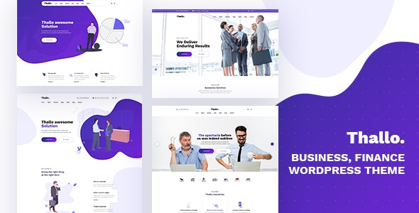 Download free Thallo v1.0.3 – Consulting & Finance WordPress Theme
