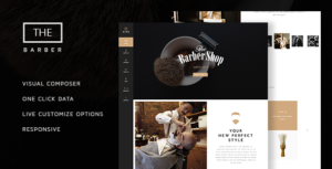Download free The Barber Shop v1.8.3 – One Page Theme For Hair Salon