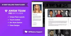 Download free The Team Pro v1.8.0 – Team Showcase WordPress Plugin