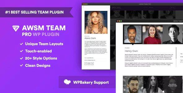 Download free The Team Pro v1.8.0 – Team Showcase WordPress Plugin
