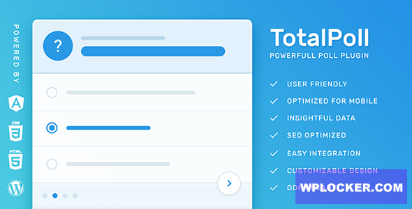 Download free TotalPoll Pro v4.1.6 – WordPress Poll Plugin