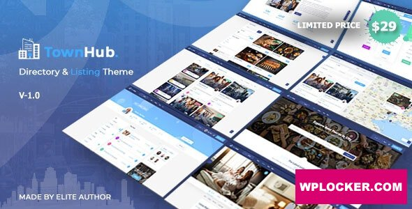 Download free TownHub v1.3.1 – Directory & Listing WordPress Theme