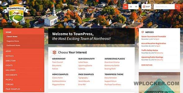 Download free TownPress v3.3.3 – Municipality WordPress Theme