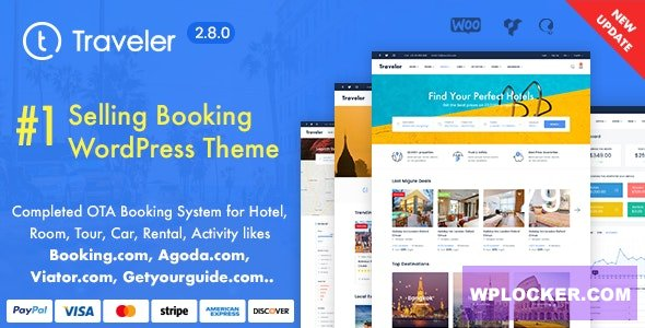 Download free Traveler v2.8.2 – Travel Booking WordPress Theme