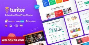 Download free Turitor v1.1.2 – LMS & Education WordPress Theme