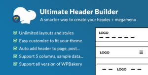 Download free Ultimate Header Builder v1.6.2 – Addon WPBakery Page Builder