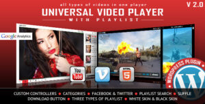 Download free Universal Video Player v3.3.0 – WordPress Plugin