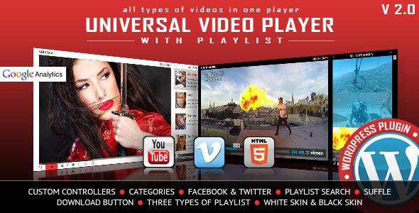 Download free Universal Video Player v3.3.0 – WordPress Plugin