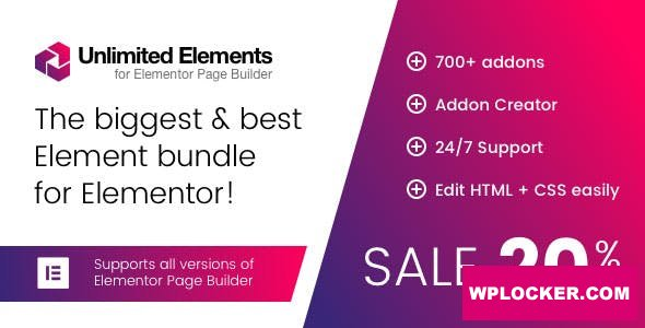 Download free Unlimited Elements for Elementor Page Builder v1.4.40