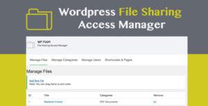 Download free WP FSAM v1.1 – File Sharing Access Manager