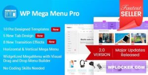 Download free WP Mega Menu Pro v2.1.3 – Responsive Mega Menu Plugin
