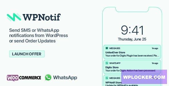 Download free WPNotif v2.2.0.5 – WordPress SMS & WhatsApp Notifications