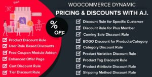 Download free WooCommerce Dynamic Pricing & Discounts with AI v1.5.0