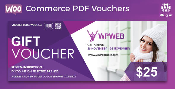 Download free WooCommerce PDF Vouchers v4.1.5 – WordPress Plugin