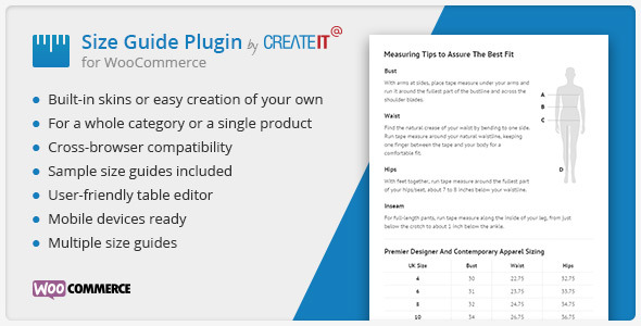 Download free WooCommerce Product Size Guide v3.6.0