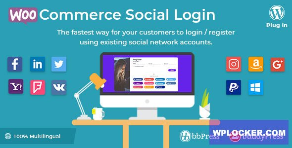 Download free WooCommerce Social Login v2.2.4 – WordPress plugin