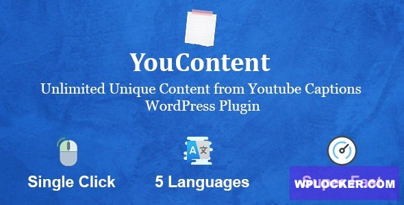 Download free YouContent v1.0 – Unlimited Unique Content Generator from Youtube Captions