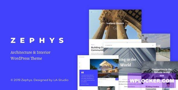 Download free Zephys v1.0.4 – Architecture & Interior WordPress Theme