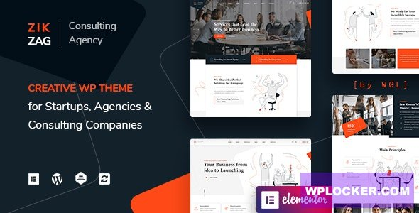 Download free ZikZag v1.0.4 – Consulting & Agency WordPress Theme