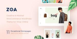Download free Zoa v2.5.2 – Minimalist Elementor WooCommerce Theme