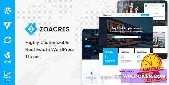 Download free Zoacres v1.1.0 – Real Estate WordPress Theme