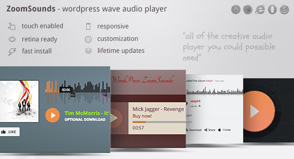 Download free ZoomSounds v5.84 – WordPress Audio Player